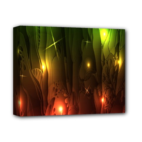 Fractal Manipulations Raw Flower Colored Deluxe Canvas 14  X 11  by AnjaniArt