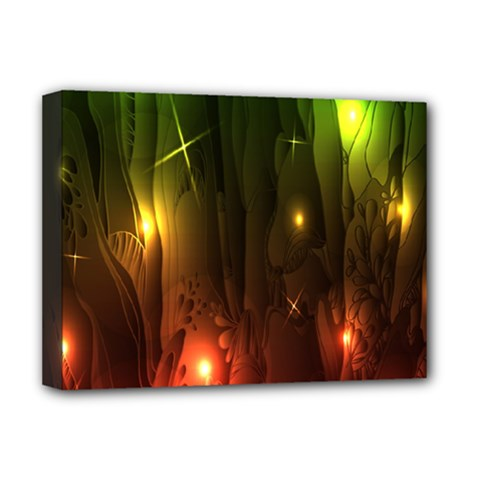 Fractal Manipulations Raw Flower Colored Deluxe Canvas 16  X 12
