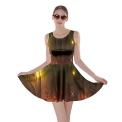 Fractal Manipulations Raw Flower Colored Skater Dress