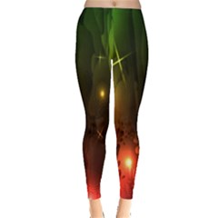 Fractal Manipulations Raw Flower Colored Leggings