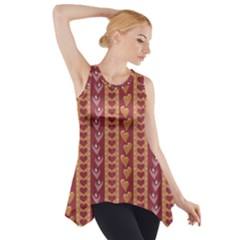 Heart Love Valentine Day Side Drop Tank Tunic by AnjaniArt