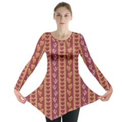 Heart Love Valentine Day Long Sleeve Tunic