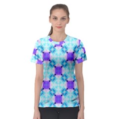 Background Colour Flower Rainbow Women s Sport Mesh Tee by AnjaniArt