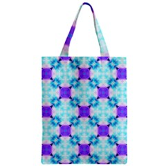 Background Colour Flower Rainbow Zipper Classic Tote Bag by AnjaniArt