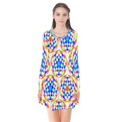 Background Colour Circle Rainbow Flare Dress