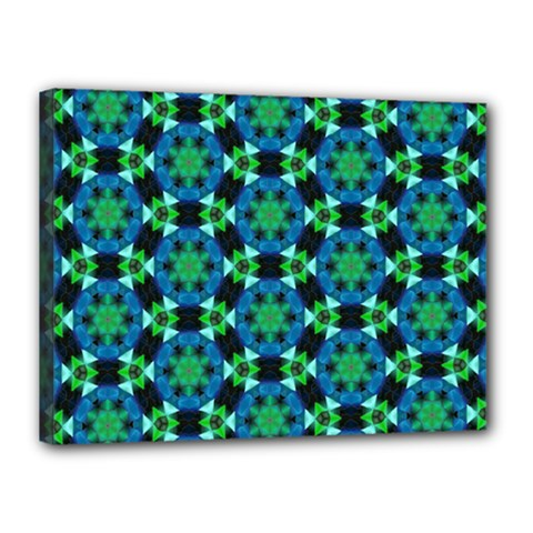 Background Star Colour Green Blue Canvas 16  X 12  by AnjaniArt