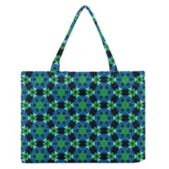 Background Star Colour Green Blue Medium Zipper Tote Bag by AnjaniArt