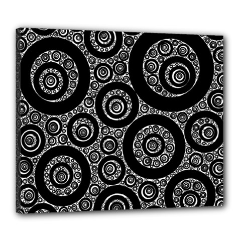 Selected Figures From The Paper Circle Black Hole Canvas 24  X 20  by AnjaniArt