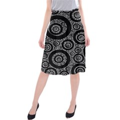 Selected Figures From The Paper Circle Black Hole Midi Beach Skirt
