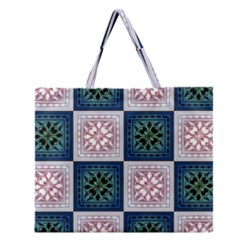 Background Colour Flower Box Zipper Large Tote Bag by AnjaniArt