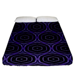 Background Colour Purple Circle Fitted Sheet (king Size)
