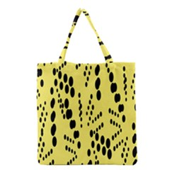 Circular Dot Selections Circle Yellow Grocery Tote Bag by AnjaniArt