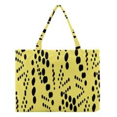 Circular Dot Selections Circle Yellow Medium Tote Bag