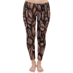 Coffee Beans Classic Winter Leggings by AnjaniArt