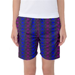 Diamond Alt Blue Purple Woven Fabric Women s Basketball Shorts