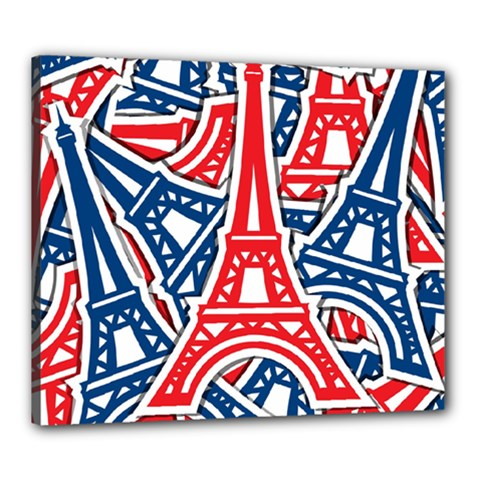 Eiffel Tower Paris Perancis Canvas 24  X 20