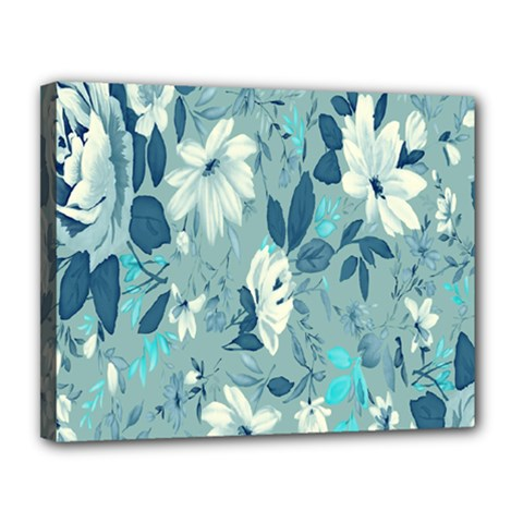 Floral Pattern Wallpaper Canvas 14  X 11