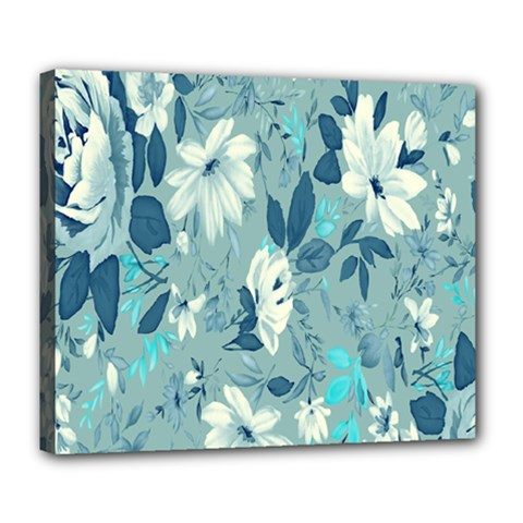 Floral Pattern Wallpaper Deluxe Canvas 24  X 20