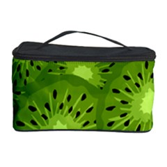 Fruit Kiwi Green Cosmetic Storage Case by AnjaniArt