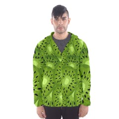 Fruit Kiwi Green Hooded Wind Breaker (men) by AnjaniArt