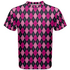 Pink Baby Showers Skull Chevron Wave Pink Purple Black Pink Men s Cotton Tee by AnjaniArt