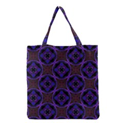 Background Colour Blue Flower Grocery Tote Bag