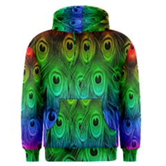 Peacock Feathers Rainbow Men s Pullover Hoodie
