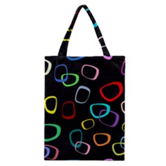 Retro Black Classic Tote Bag by AnjaniArt