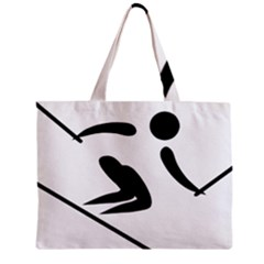 Alpine Skiing Pictogram  Zipper Mini Tote Bag by abbeyz71