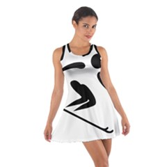 Alpine Skiing Pictogram  Cotton Racerback Dress