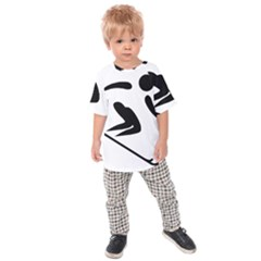 Alpine Skiing Pictogram  Kids  Raglan Tee