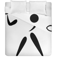 American Football Pictogram  Duvet Cover Double Side (california King Size) by abbeyz71