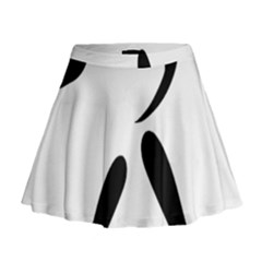 American Football Pictogram  Mini Flare Skirt by abbeyz71