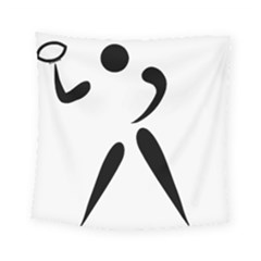 American Football Pictogram  Square Tapestry (small)