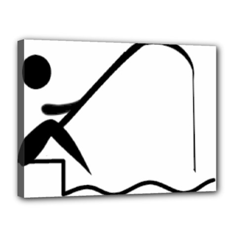 Angling Pictogram Canvas 16  X 12