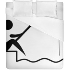 Angling Pictogram Duvet Cover (california King Size) by abbeyz71