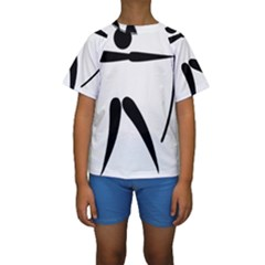 Archery Pictogram Kids  Short Sleeve Swimwear by abbeyz71