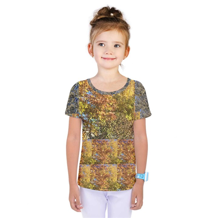Bright colored leaves Kids  One Piece Tee