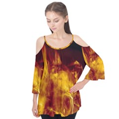 Ablaze Abstract Afire Aflame Blaze Flutter Tees