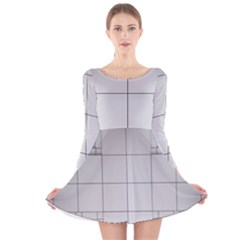 Abstract Architecture Contemporary Long Sleeve Velvet Skater Dress