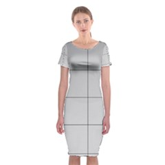 Abstract Architecture Contemporary Classic Short Sleeve Midi Dress