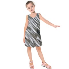 Abstract Background Geometry Block Kids  Sleeveless Dress
