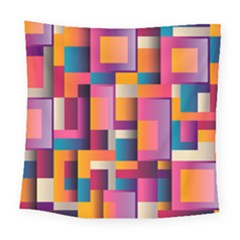 Abstract Background Geometry Blocks Square Tapestry (large)