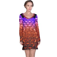 Abstract Ball Colorful Colors Long Sleeve Nightdress