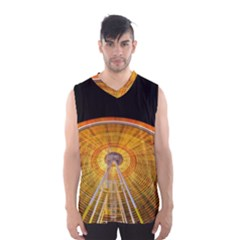 Abstract Blur Bright Circular Men s Basketball Tank Top
