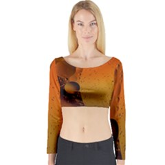 Abstraction Color Closeup The Rays Long Sleeve Crop Top by Amaryn4rt