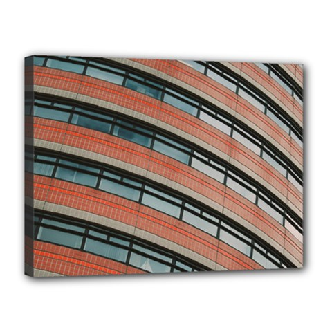 Architecture Building Glass Pattern Canvas 16  X 12  by Amaryn4rt