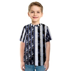 Architecture Building Pattern Kids  Sport Mesh Tee