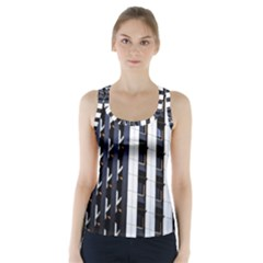 Architecture Building Pattern Racer Back Sports Top