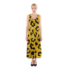 Skin5 Black Marble & Yellow Marble Sleeveless Maxi Dress by trendistuff